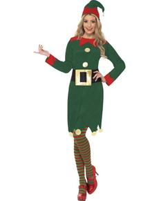 Costume da Elfa verde