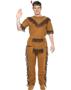 Costume da indiano valoroso con frange per uomo