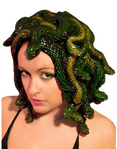 Parrucca medusa scolpita