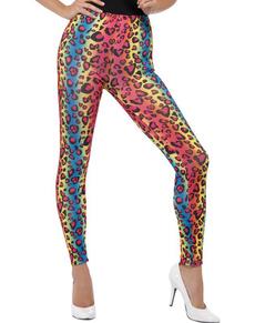 Leggins leopardati colorati da donna