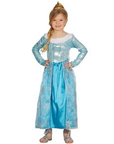 Costume da principessa del ghiaccio da bambina