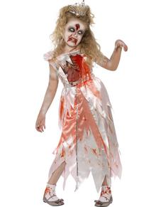 Costume da bella addormentata zombie bambina