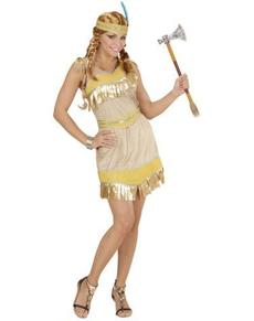 Costume da indiana dorata da donna