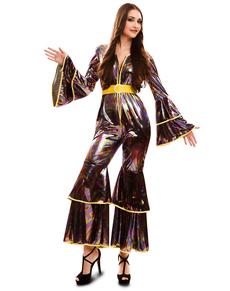 Costume da ragazza disoc anni '70 per donna