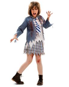 Costume da liceale zombie per bambina