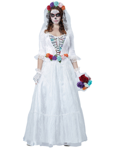 Costume da sposa morta messicana per donna