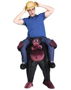 Costume da gorilla scappato dallo zoo per adulto